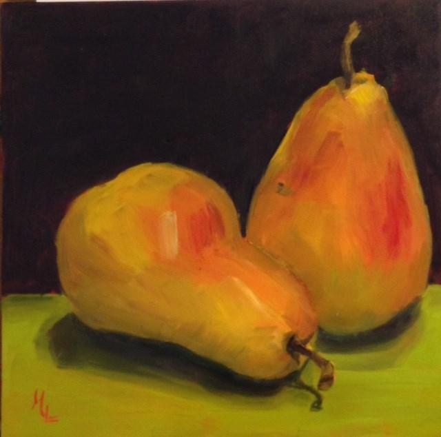 """Get a Pear"" original fine art by Marjie Laizure"