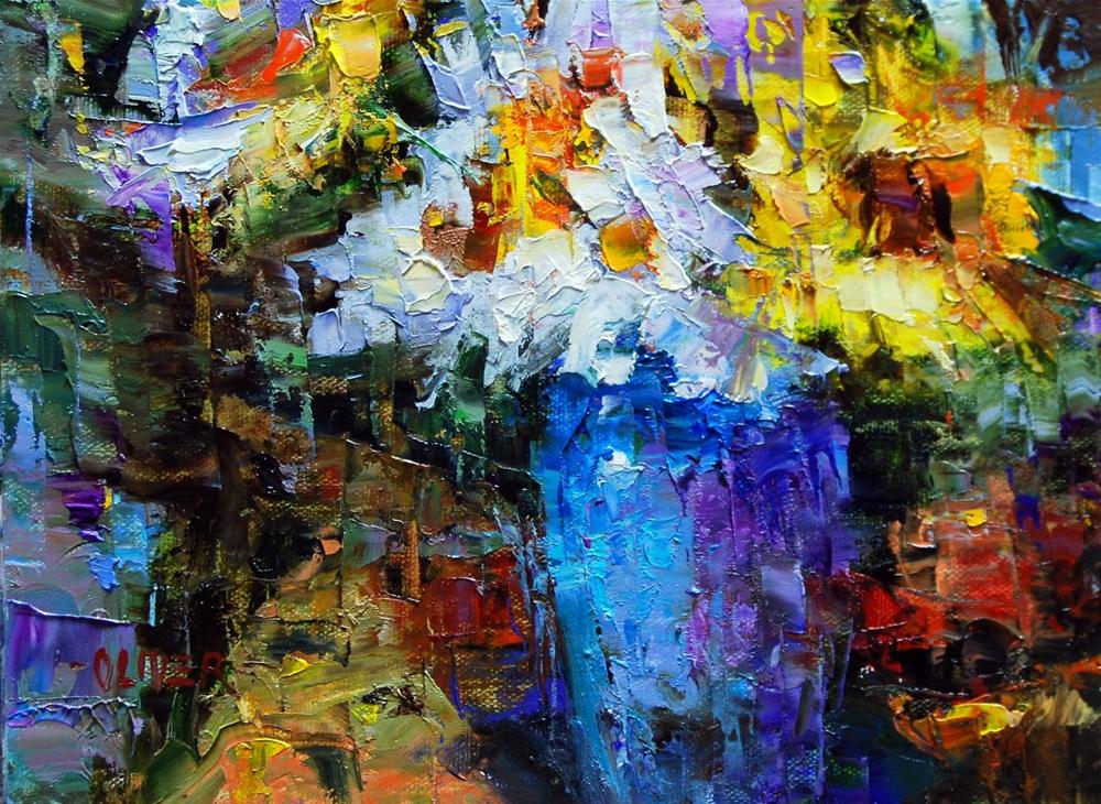 """""""Fracturing from the Imagination ll -Demo"""" original fine art by Julie Ford Oliver"""
