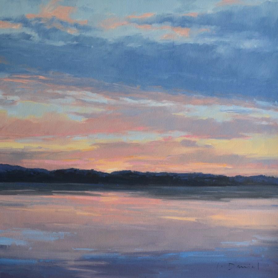 """Red Sky at NIght - Anderson Gallery Exhibit"" original fine art by Laurel Daniel"