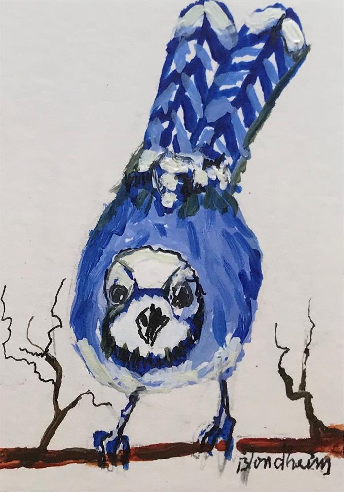 """Blue Jay"" original fine art by Linda Blondheim"