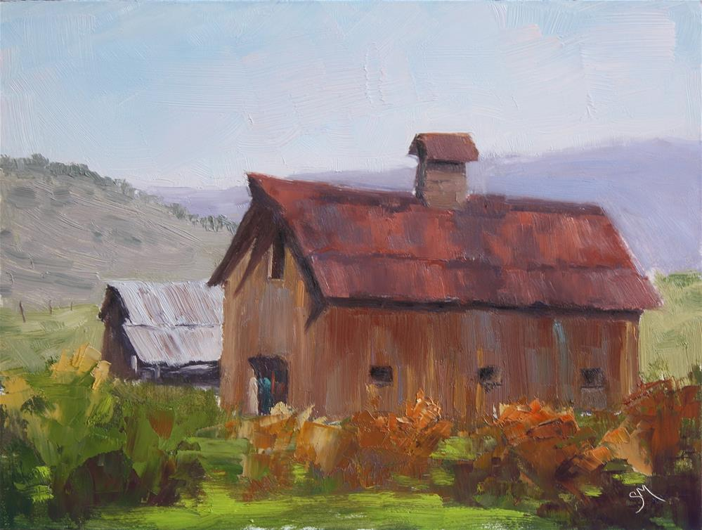 """No Name Barn"" original fine art by Sheila Marie"