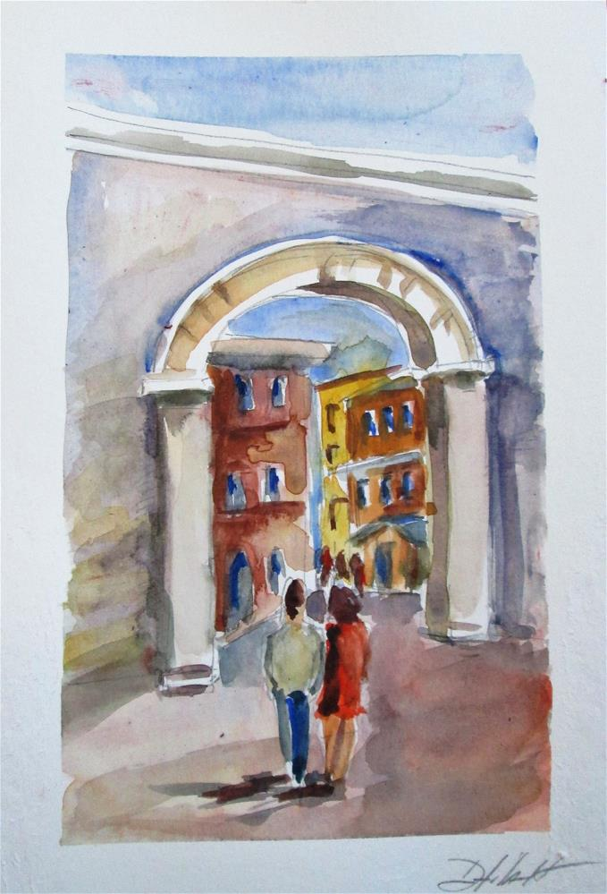 """City Gate"" original fine art by Delilah Smith"