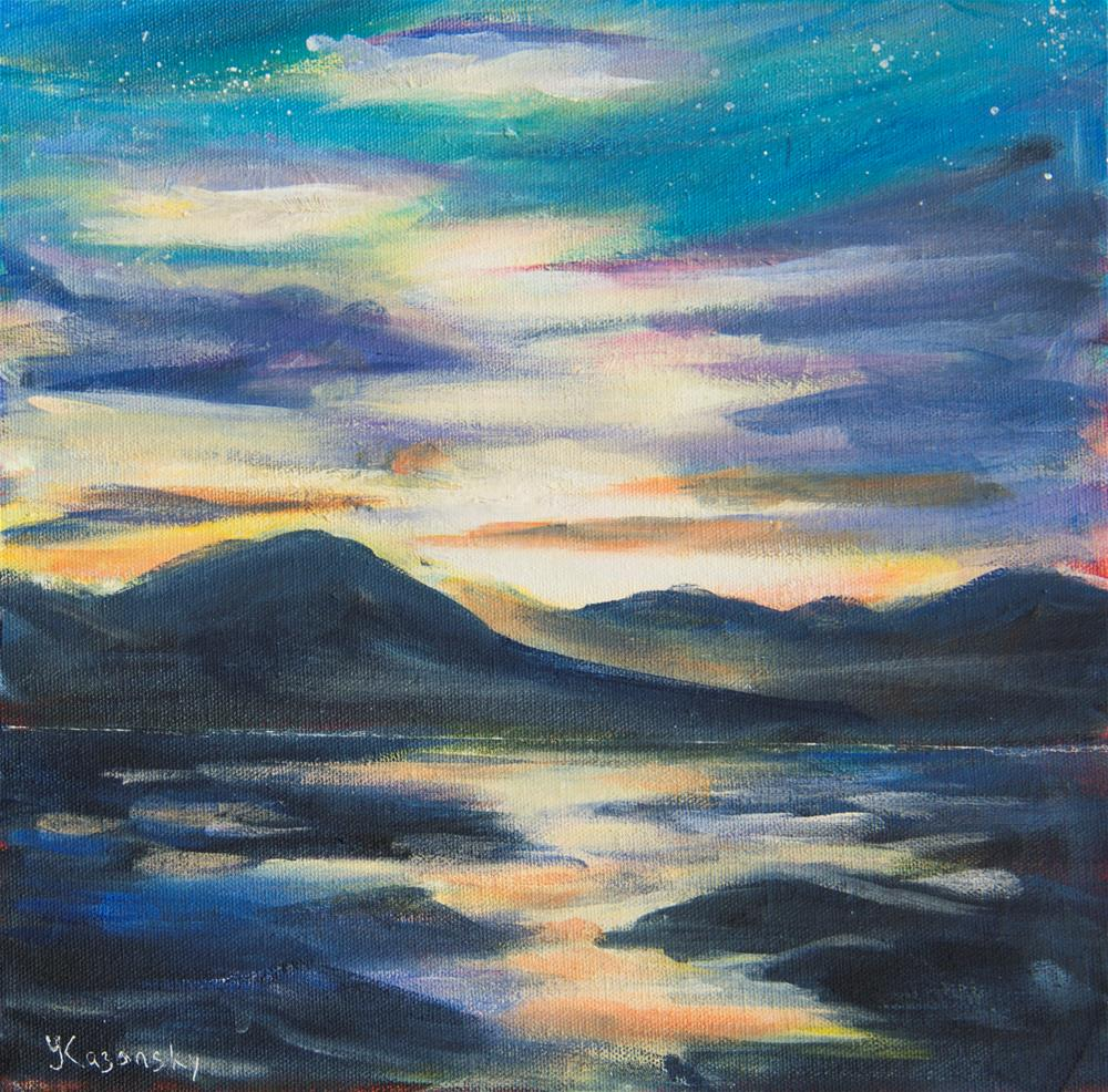 """Sunset on Eagle Beach, Alaska"" original fine art by Yulia Kazansky"