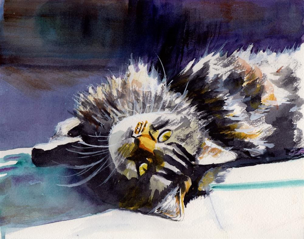 """""""Basking in the Sun"""" original fine art by Bunny Griffeth"""