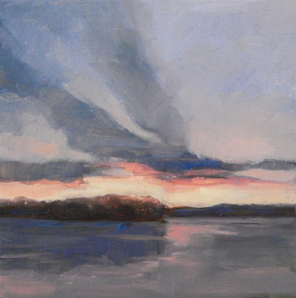 """""""Wings on a Sunset"""" original fine art by Lisa Kyle"""