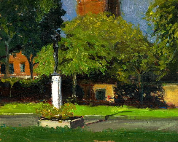 """Awakening Statue, Roper's Garden (12) Chelsea Marathon"" original fine art by Adebanji Alade"