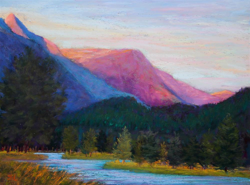 """Last Light"" original fine art by Sharon Lewis"