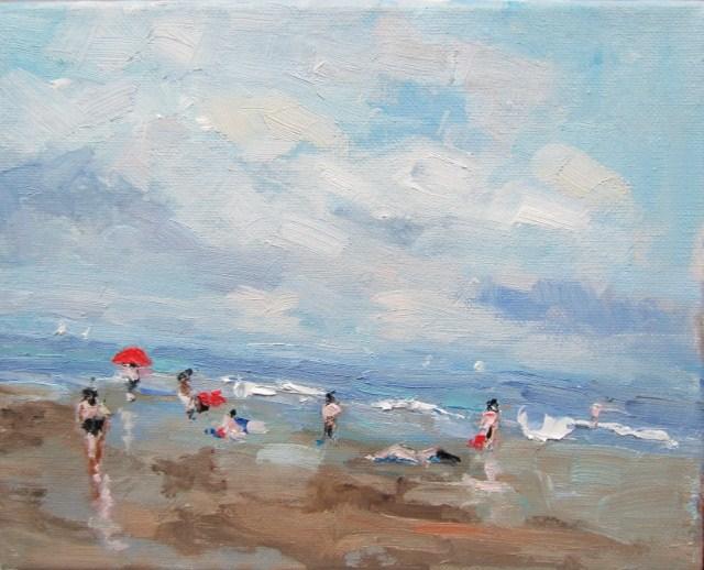 """Beach time"" original fine art by Astrid Buchhammer"