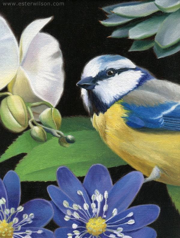 """Flora VI"" original fine art by Ester Wilson"