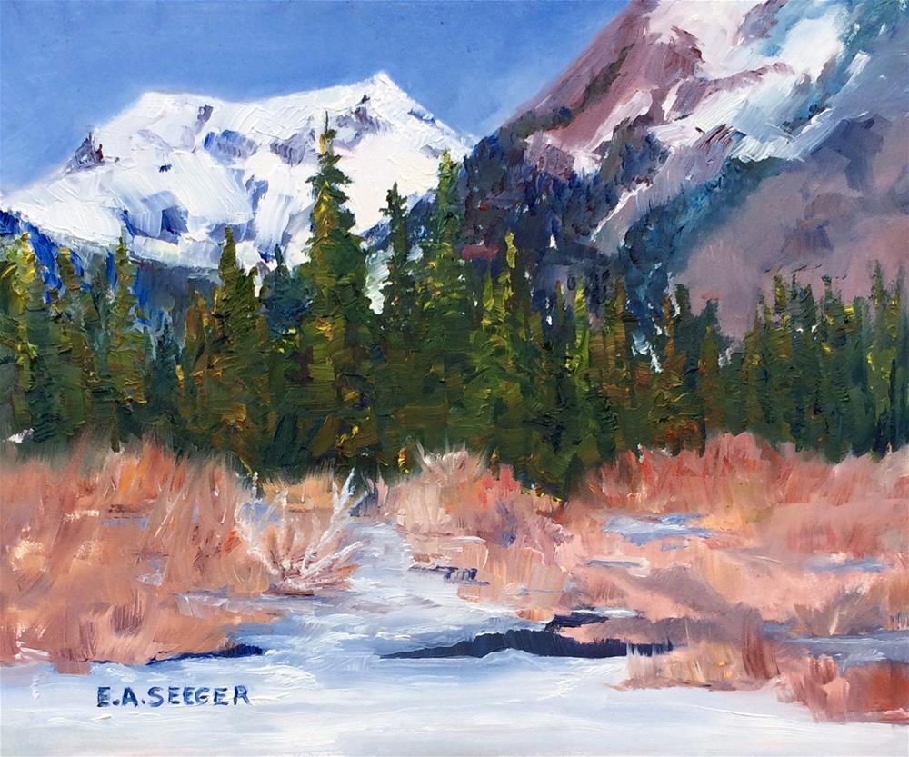 """Gold Creek Plein Air Sketch"" original fine art by Elisabeth Seeger"