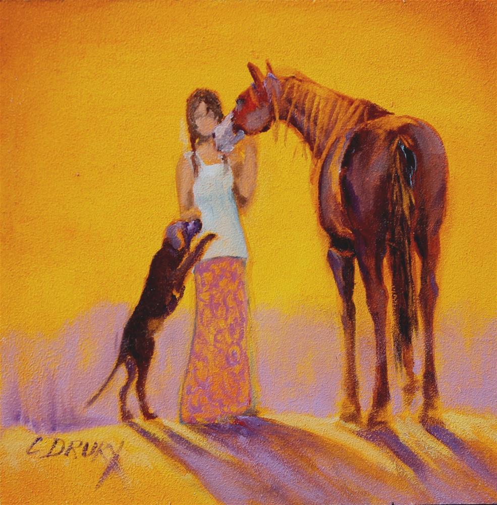 """Let's Dance"" original fine art by Colleen Drury"