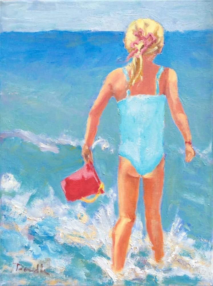 """Splish! Splash!"" original fine art by Debbie Dowdle"