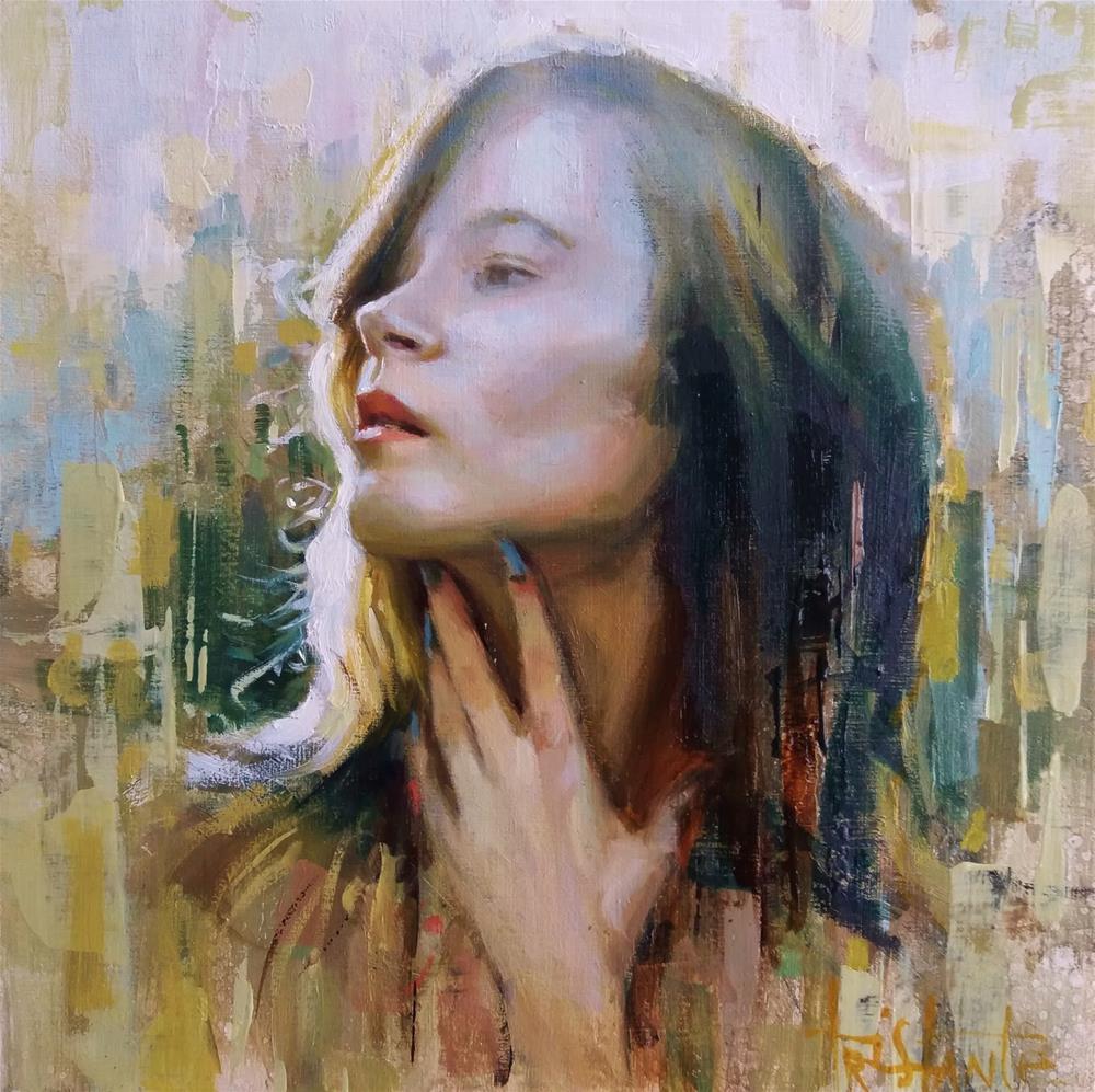 """""""Concern and light"""" original fine art by Víctor Tristante"""