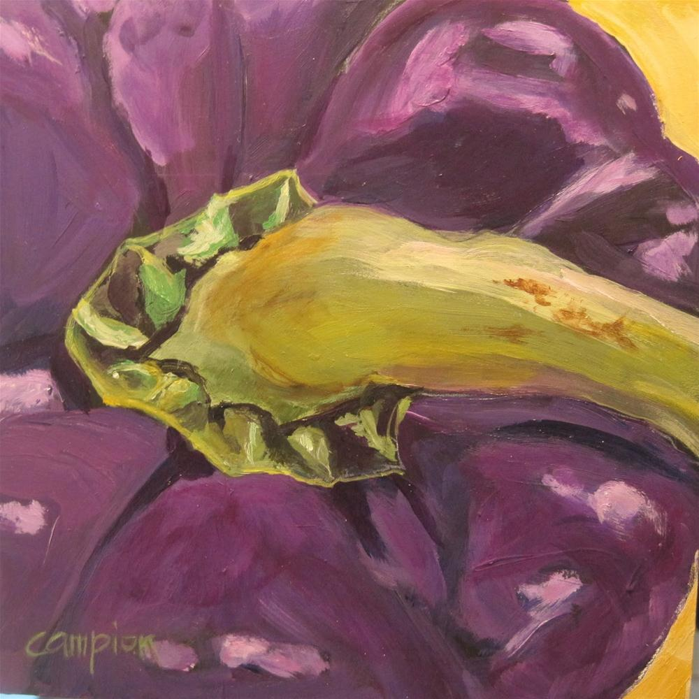 """Last of 4: Purple Bell Pepper"" original fine art by Diane Campion"