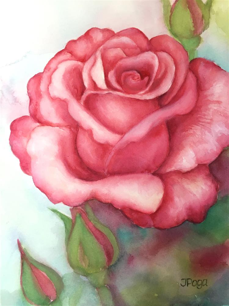 """Sunday rose"" original fine art by Inese Poga"