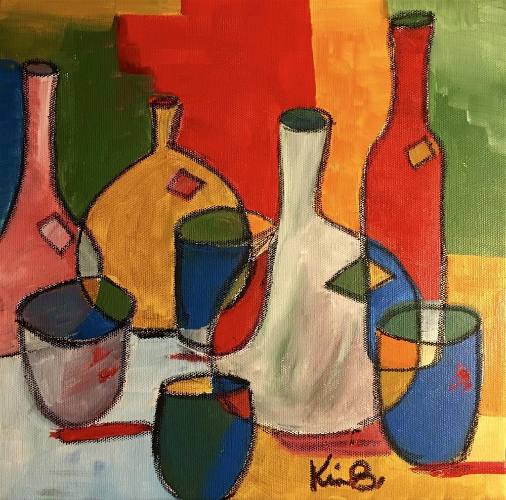 """Cezanne Wine"" original fine art by Kimberly Balentine"