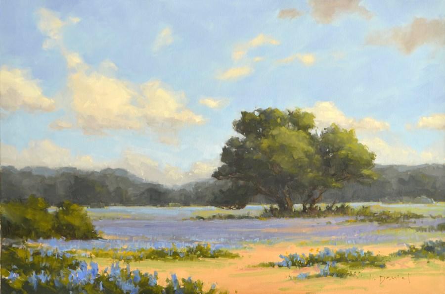 """Azure Fields - Show Tip #26"" original fine art by Laurel Daniel"