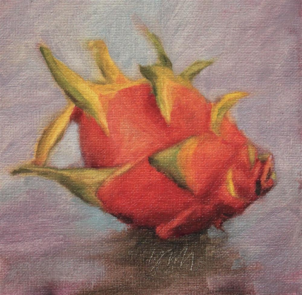 """dragonfruit"" original fine art by Yuehua He"