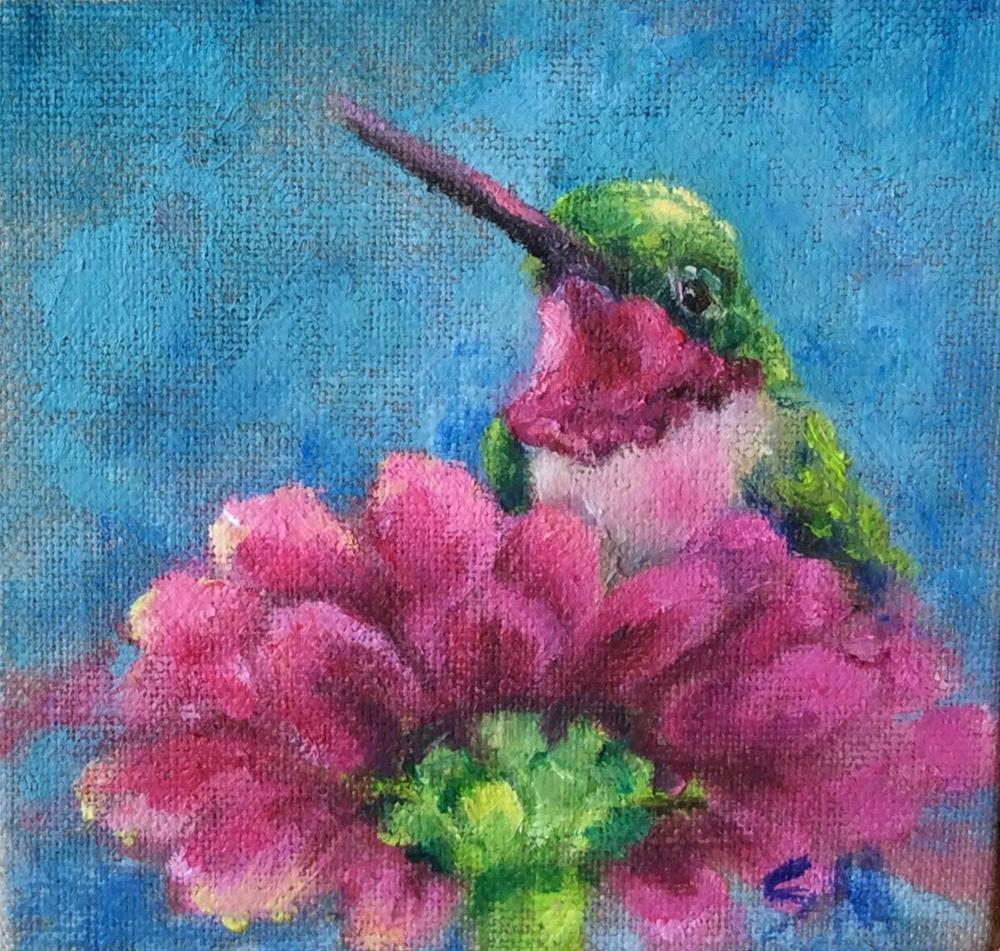 """""""Pinkie"""" original fine art by Susie Monzingo"""