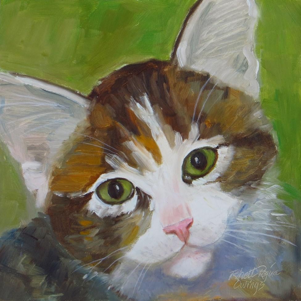 """""""Little Cutie"""" original fine art by Rhett Regina Owings"""