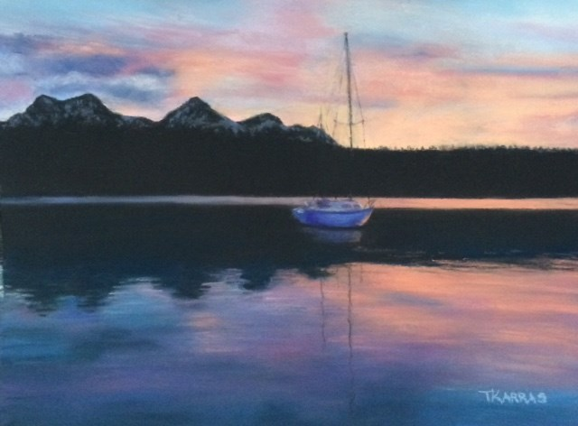 """Red Fish Lake"" original fine art by Christina Karras"