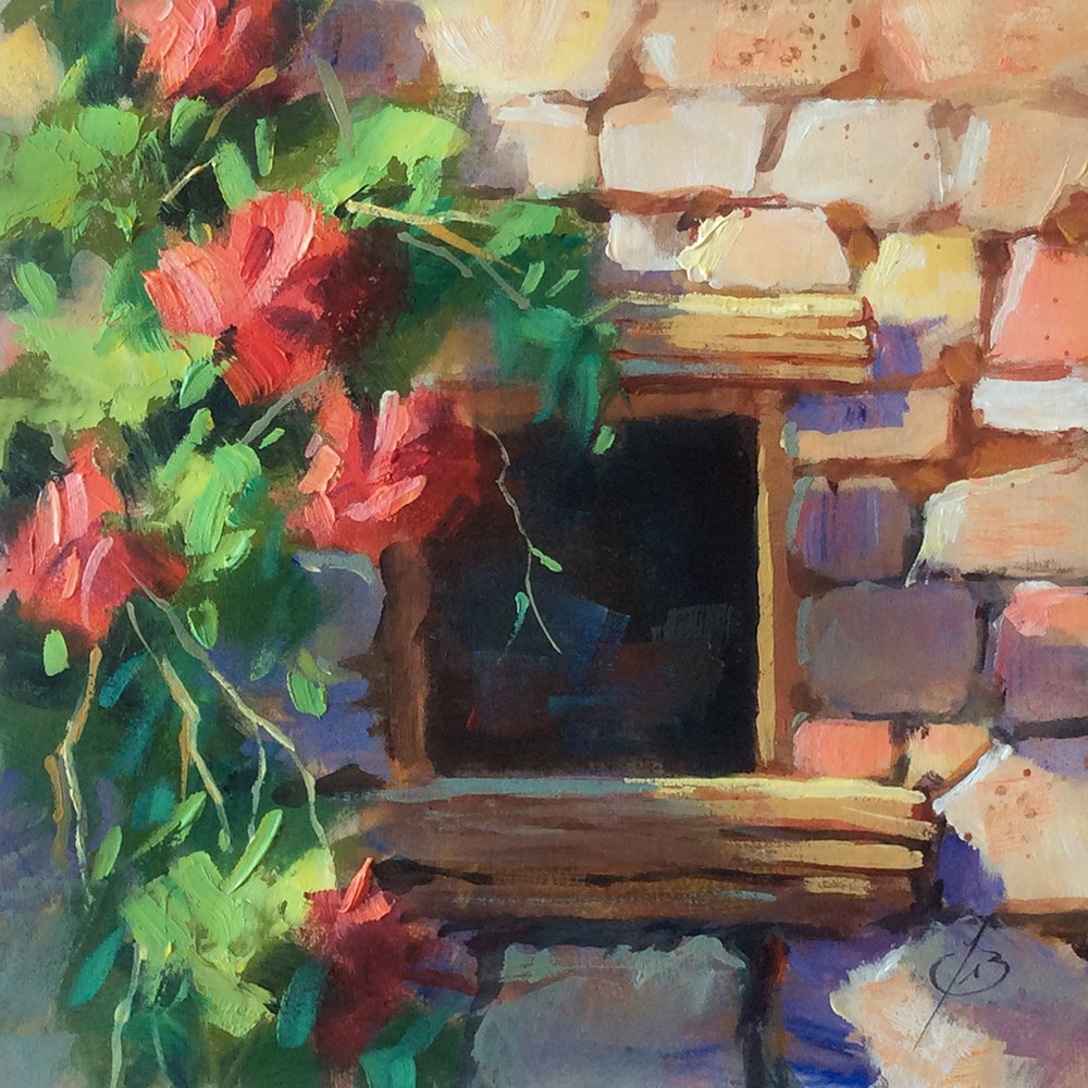 """""""WINDOW TO THE SOUL"""" original fine art by Tom Brown"""