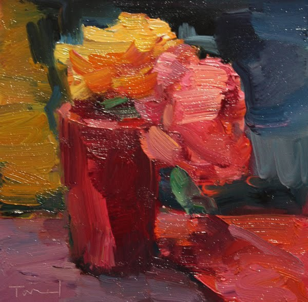 """""""Red Cup"""" original fine art by Kathryn Townsend"""