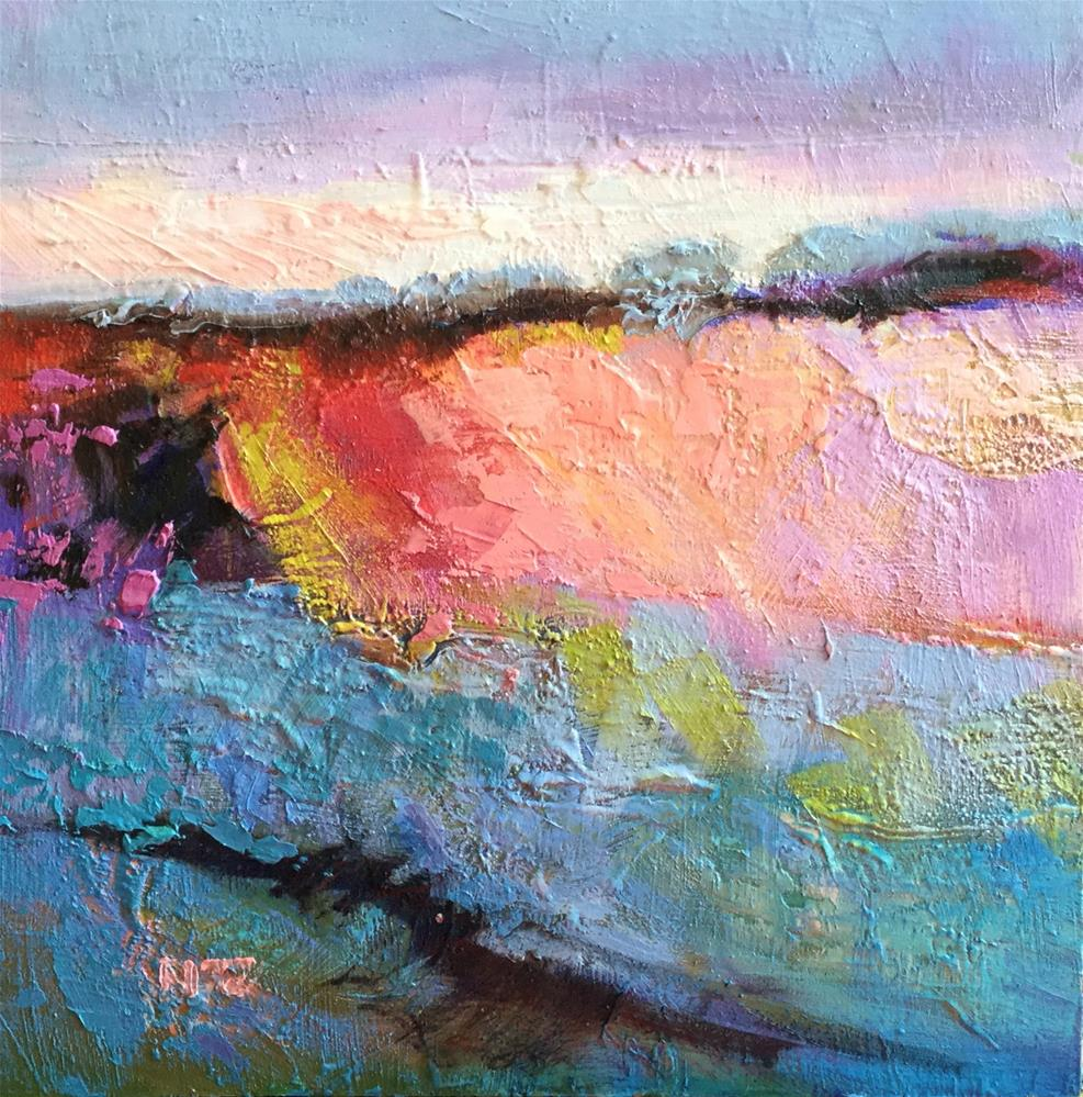 """Impasto Landscape Study 19"" original fine art by Charlotte Fitzgerald"