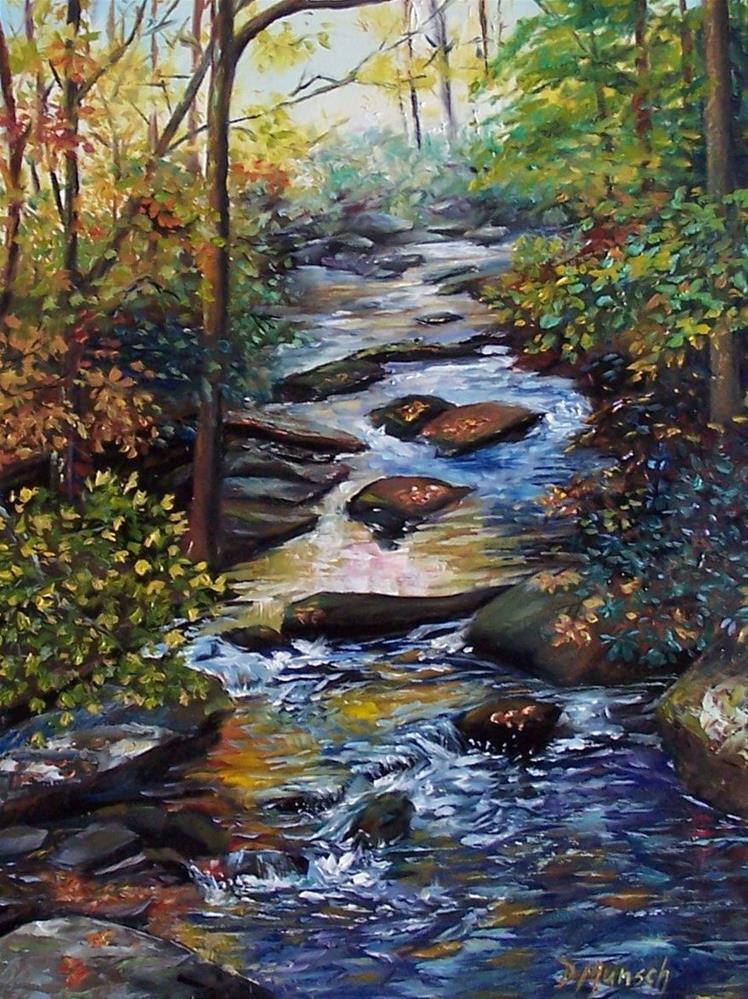 """""""Sunlight Creek"""" original fine art by Donna Munsch"""