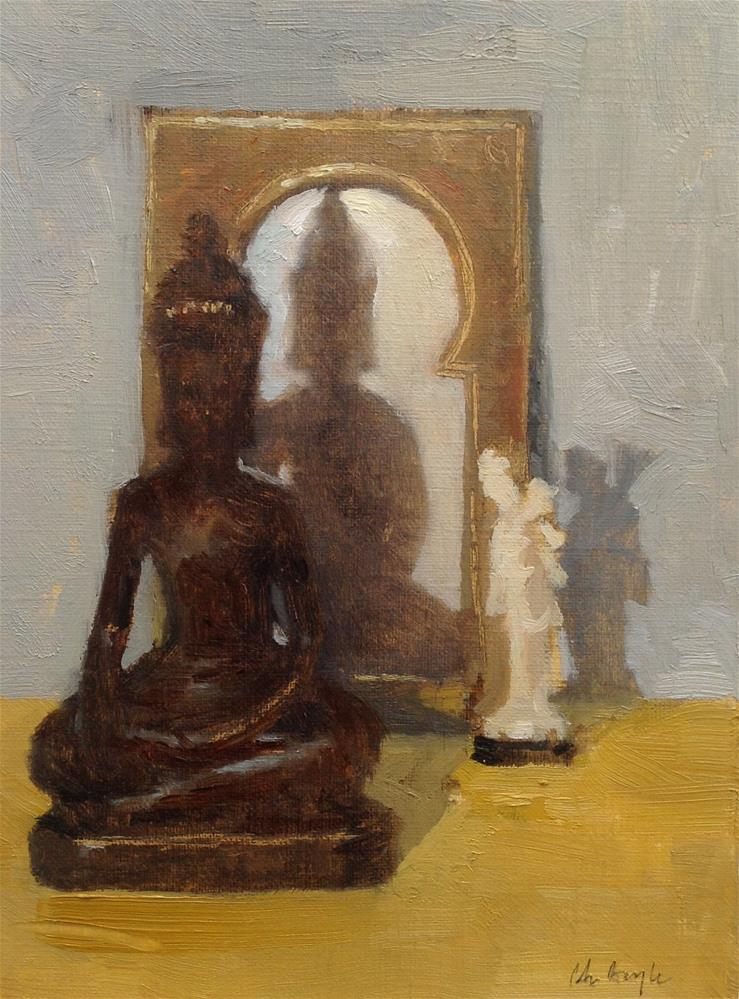 """Buddha"" original fine art by Christine Bayle"