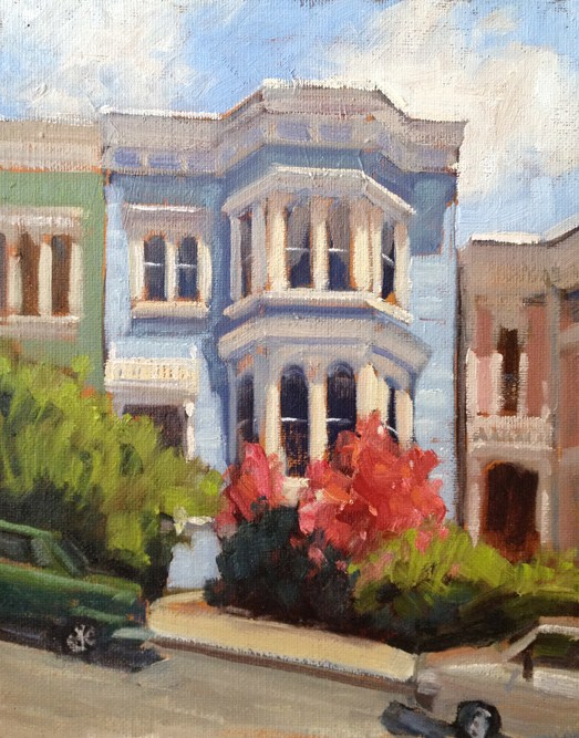 """Victorian Home"" original fine art by Deborah Newman"