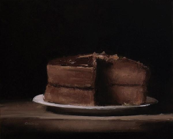 """Chocolate Cake"" original fine art by Neil Carroll"