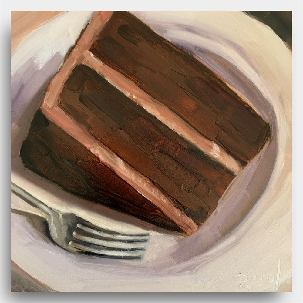 """""""840 I'm Not a Piece of Cake"""" original fine art by Jenny Doh"""