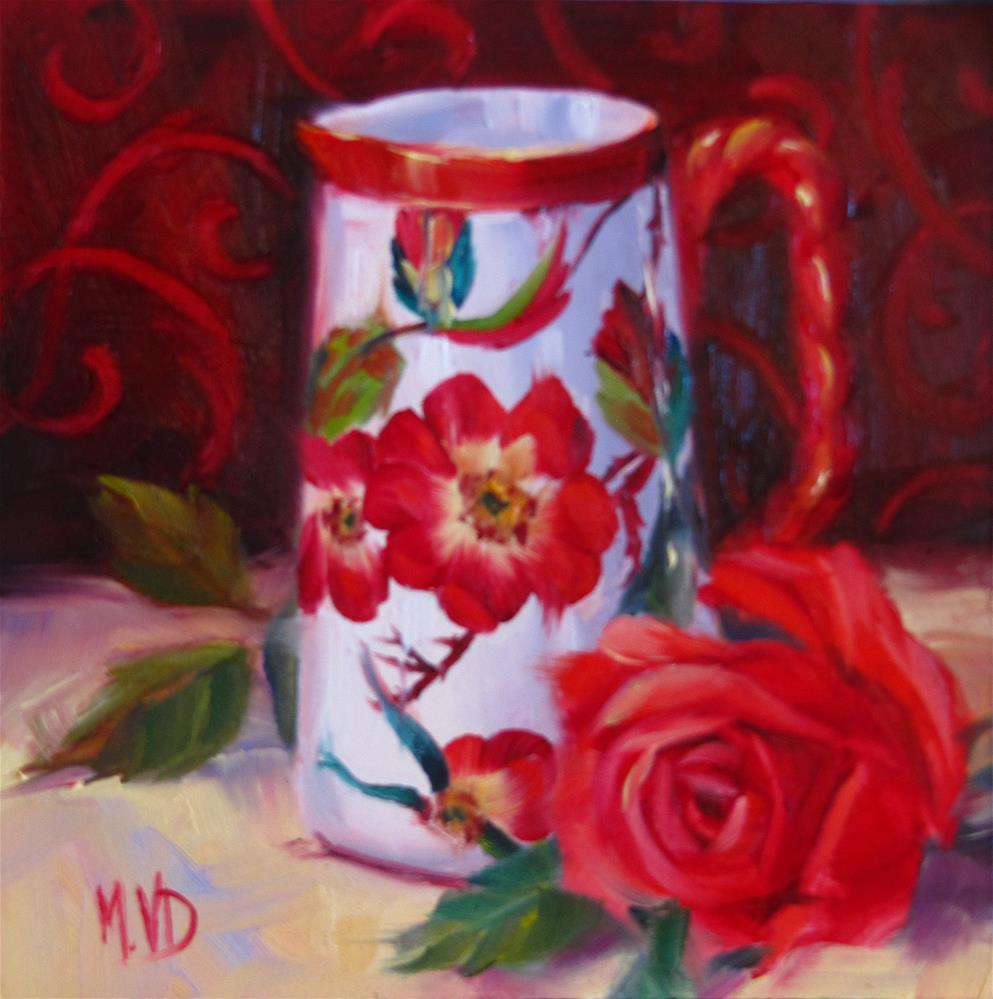 """China & Rose"" original fine art by Mary Van Deman"