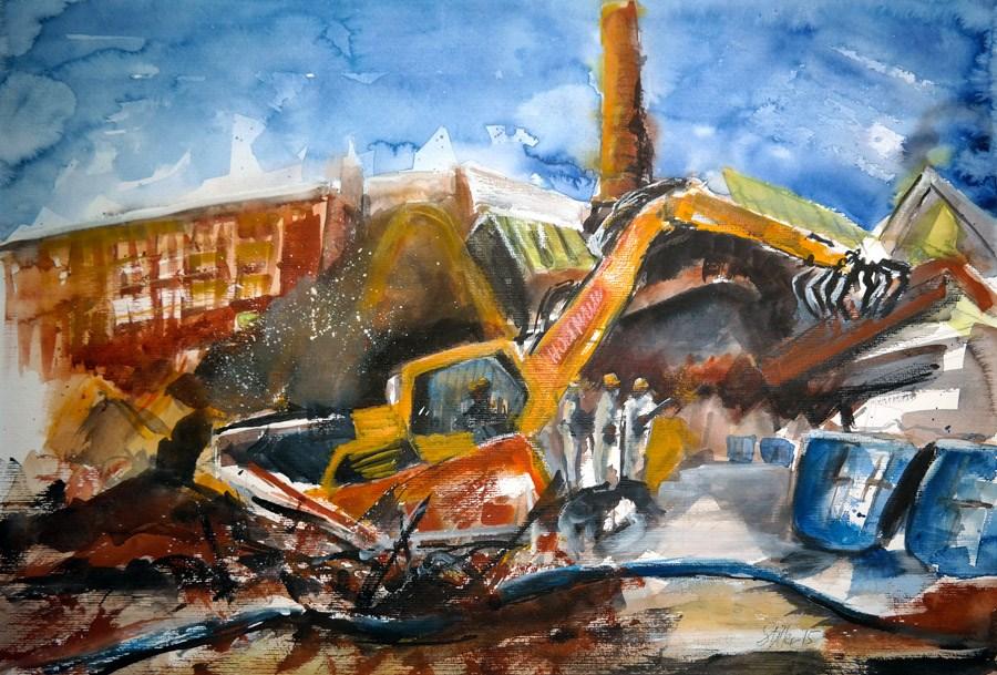 """""""1281 Demolition"""" original fine art by Dietmar Stiller"""