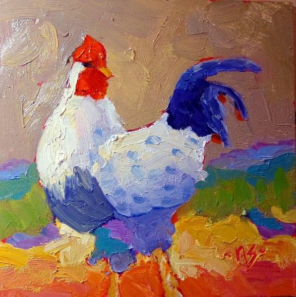 """""""Looking for Peeps 13014"""" original fine art by Nancy Standlee"""