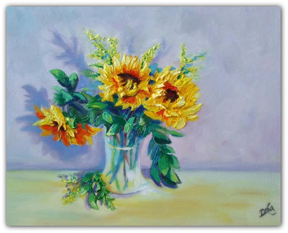 """SUNFLOWERS"" original fine art by Dana C"