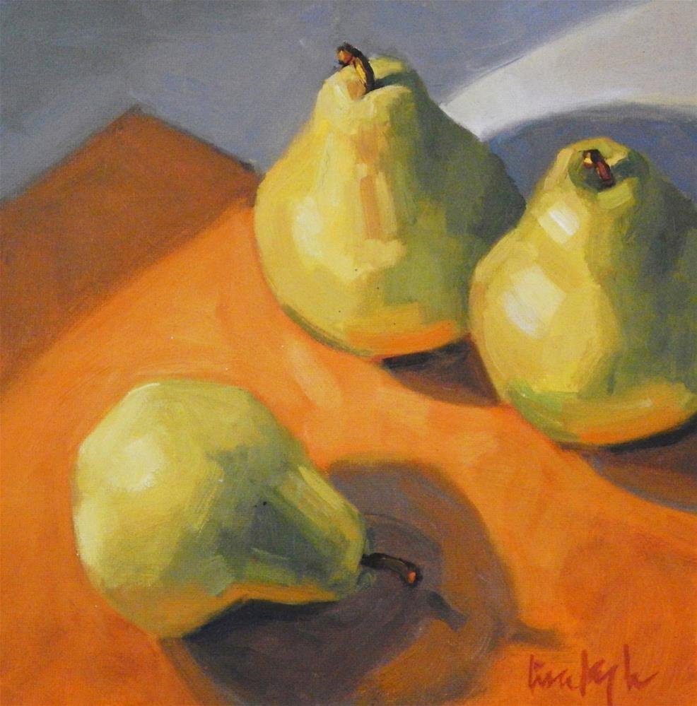 """Orange and Pears"" original fine art by Lisa Kyle"