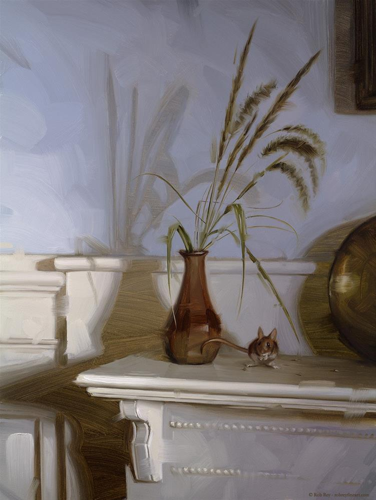 """""""Fallen Seeds, Framed"""" original fine art by Rob  Rey"""