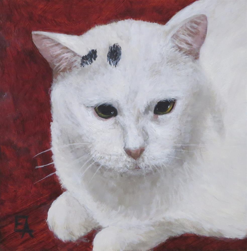 """Garuda Aviary Fundraiser - Bubba the Cat"" original fine art by Elizabeth Elgin"