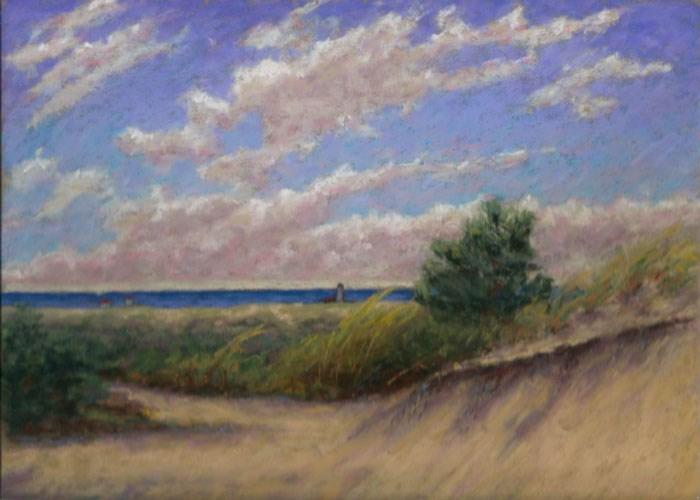 """""""Dunes toward Race Point Cape Cod Seascape"""" original fine art by Nancy Poucher"""