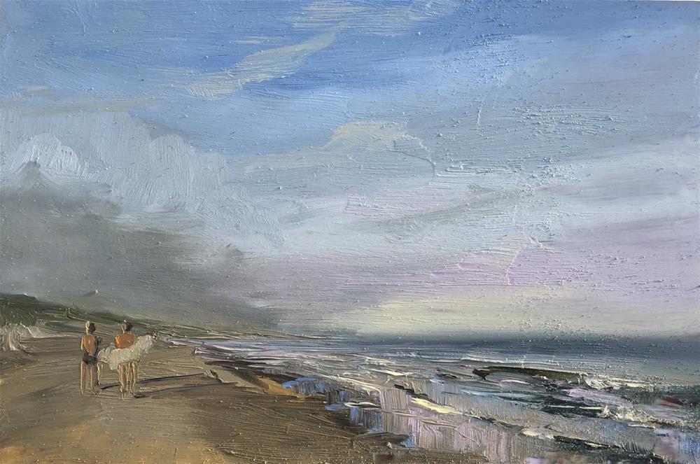 """""""Morning dip"""" original fine art by Philine van der Vegte"""