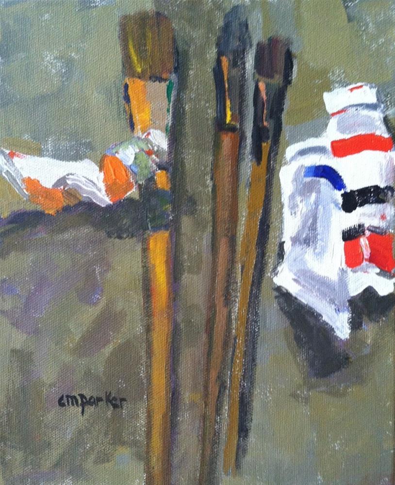 """Painter's Still Life 4/30/14"" original fine art by Christine Parker"