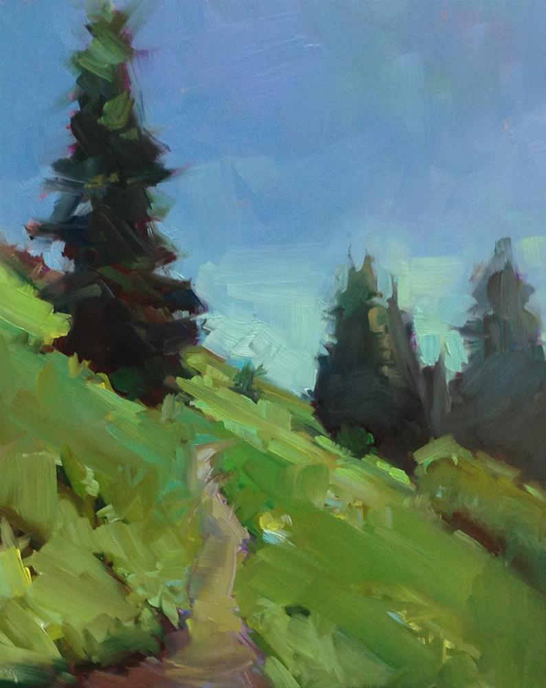 """Browder Mountain Blues and Greens"" original fine art by Patti McNutt"