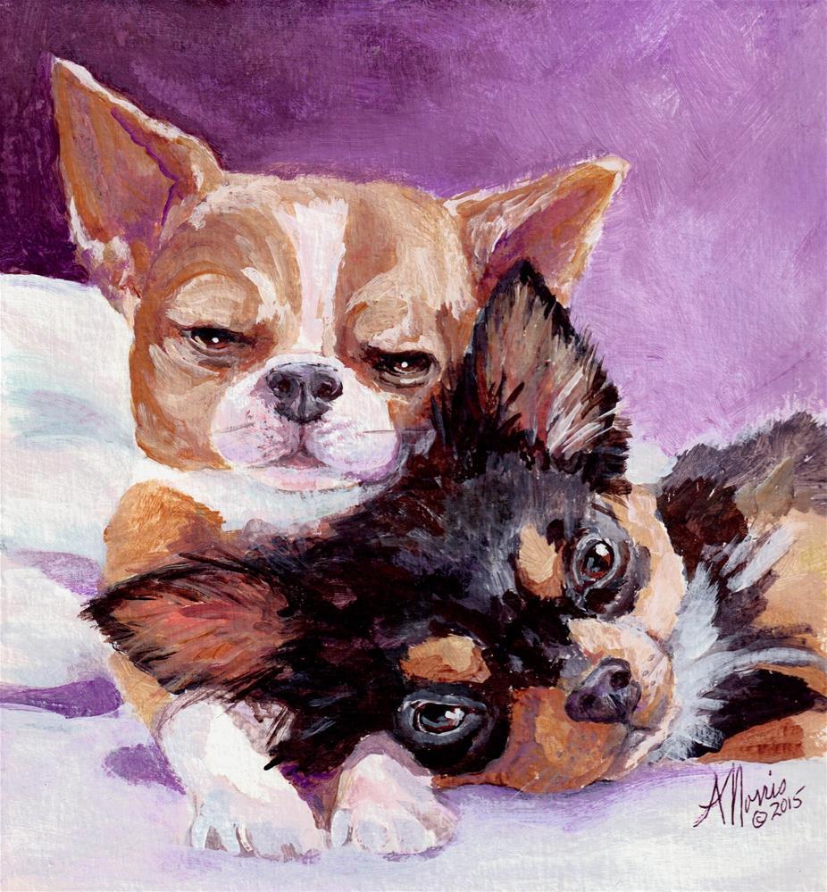 """Pixie and Dixie"" original fine art by Andrea Morris"