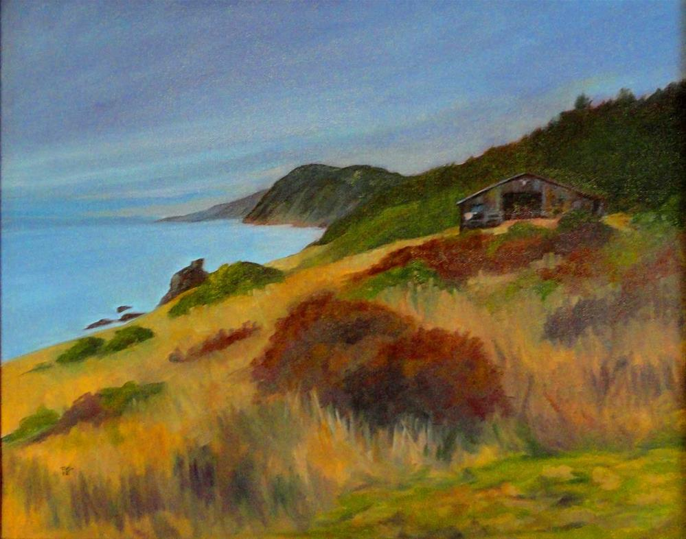 """Old Barn At The Sinkyone  Wilderness Park"" original fine art by Cietha Wilson"