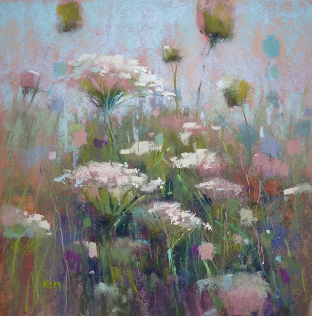 """Favorite Paintings of 2016: Queen Anne's Lace"" original fine art by Karen Margulis"