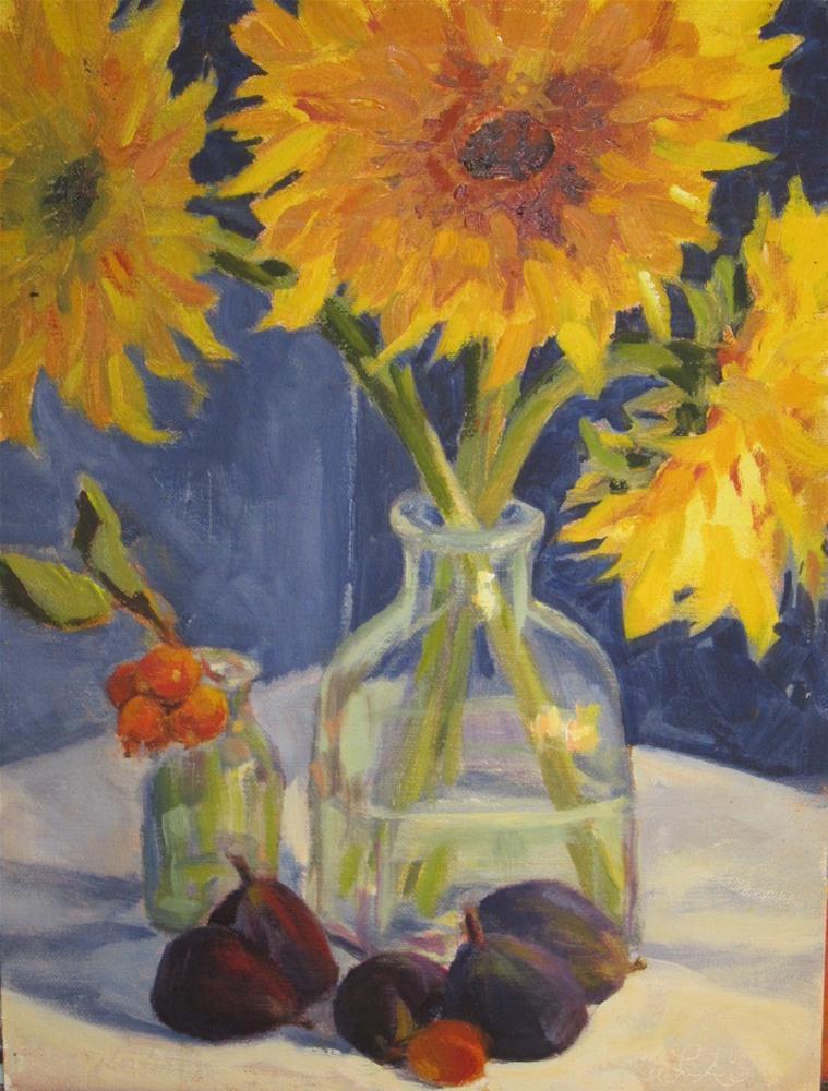 """Sunflowers"" original fine art by Leigh Alexandra Sparks"