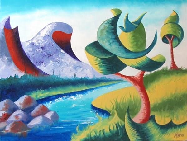 """""""Mark Webster - Abstract Landscape Oil Painting 2.11.13"""" original fine art by Mark Webster"""