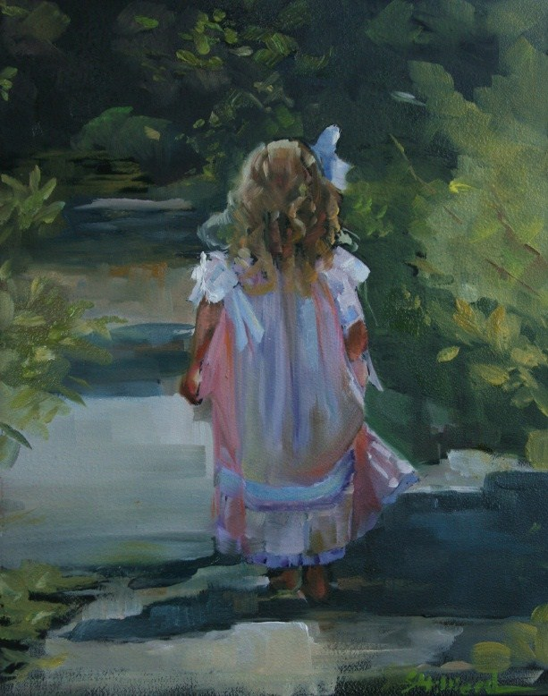 """The Dress"" original fine art by Sherrie Hilliard"